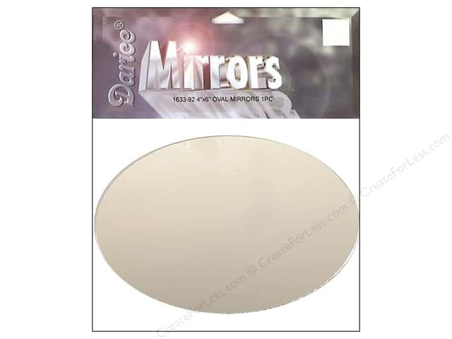 Darice Mirrors Oval 4 x 6 in. 1 pc.