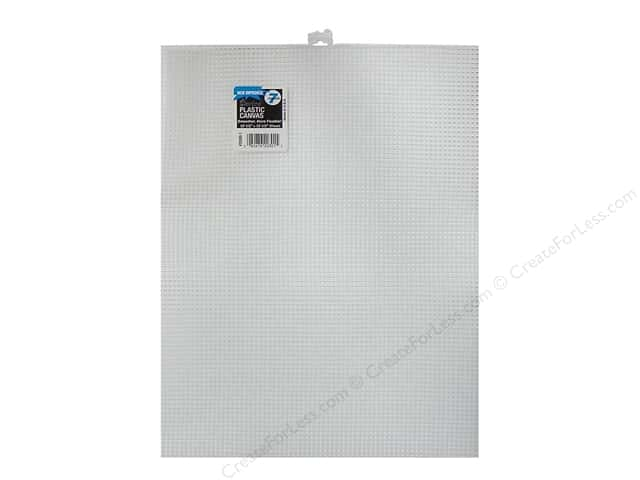 Darice Plastic Canvas #7 Mesh 10 1/2 x 13 1/2 in. Clear (12 sheets)