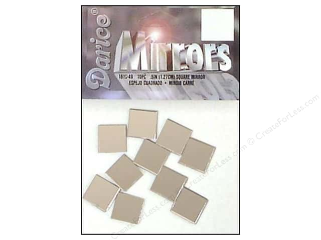 Darice Mirrors Square 1/2 in. 10 pc.