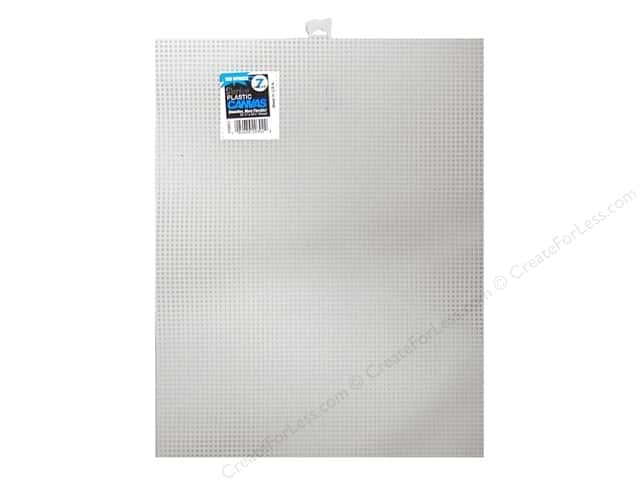 Darice Plastic Canvas #7 Mesh 10 1/2 x 13 1/2 in. White (12 sheets)