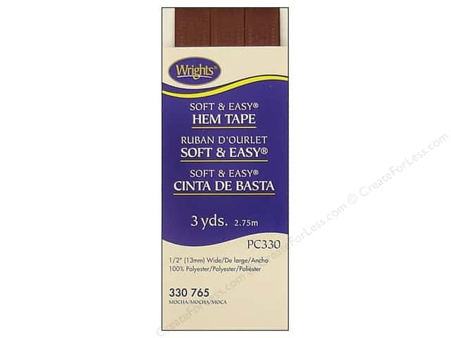 Wrights Soft & Easy Hem Tape 3 yd. Mocha