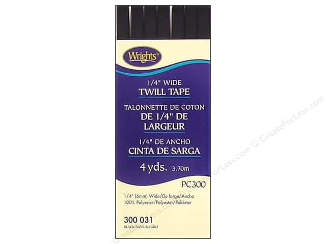 Wrights Twill Tape 1/4  in. x 4 yd. Black