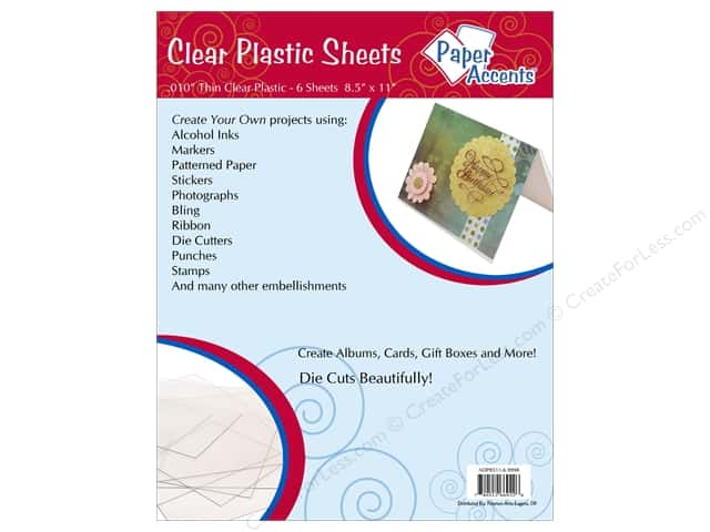 Plastic Sheet 8 1/2 x 11 in. by Paper Accents Clear .01 in. 6 pc.