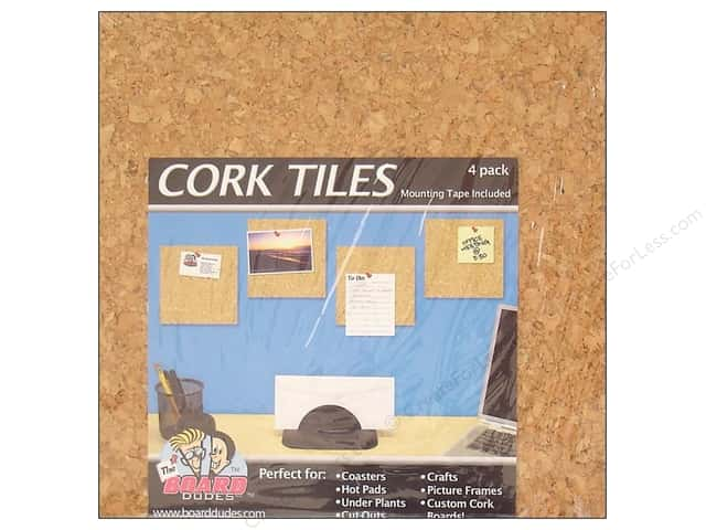 The Board Dudes Cork Tile 6 x 6 x 3/16 in. 4 pc.