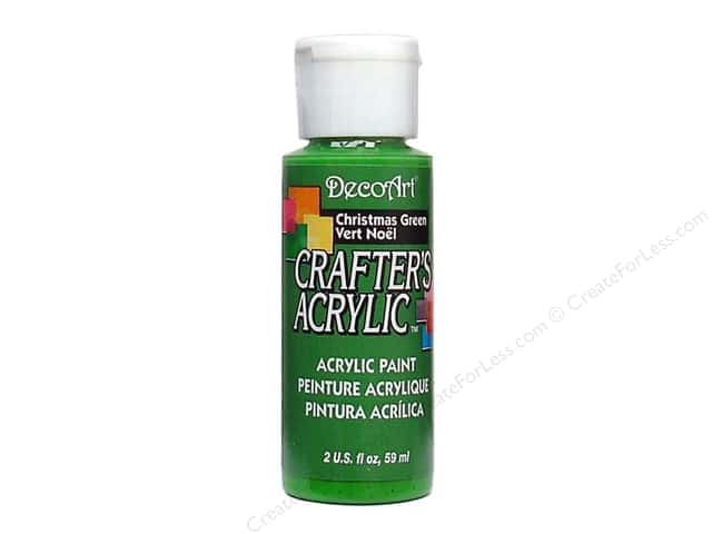 DecoArt Crafter's Acrylic Paint 2 oz. #37 Christmas Green