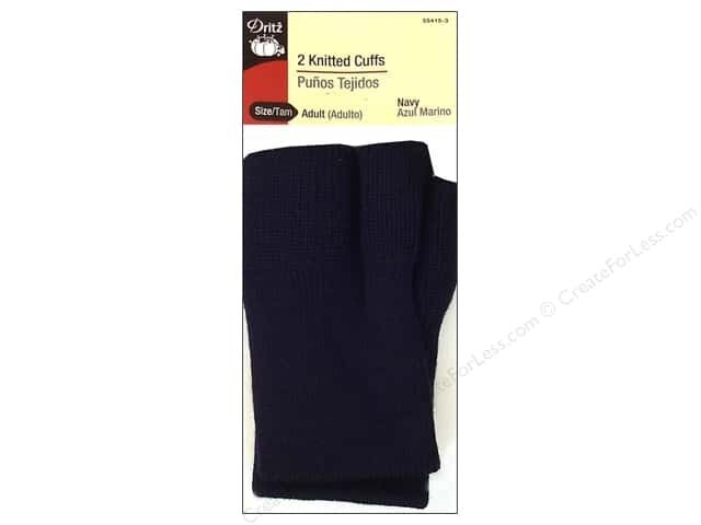 Knitted Cuffs by Dritz Adult Navy 1 pair
