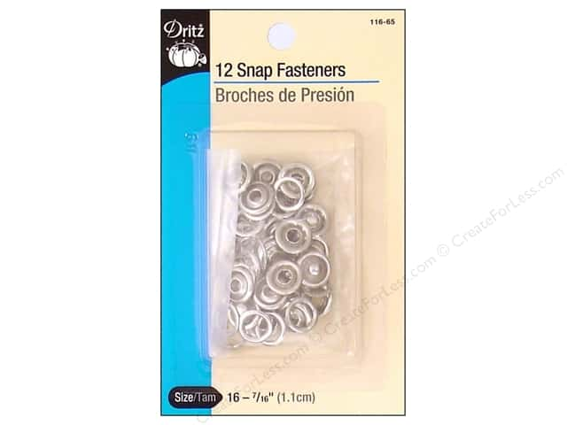 Snap Fasteners by Dritz 7/16 in. Nickel 12 pc.