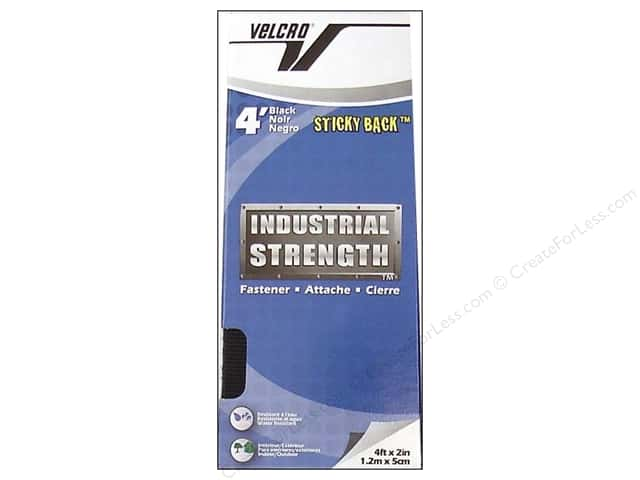 Velcro Sticky Back Industrial Strength 2 in. x 4 ft. Black