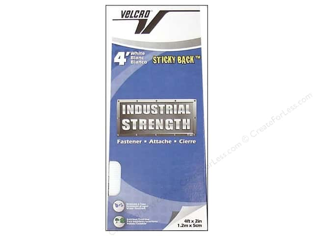 Velcro Sticky Back Industrial Strength 2 in. x 4 ft. White