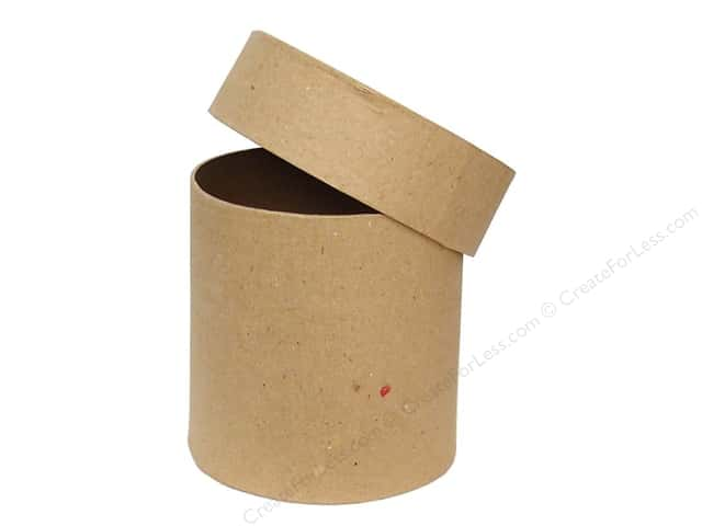 Paper Mache Tall Round Box 4 in. by Craft Pedlars (12 boxes)