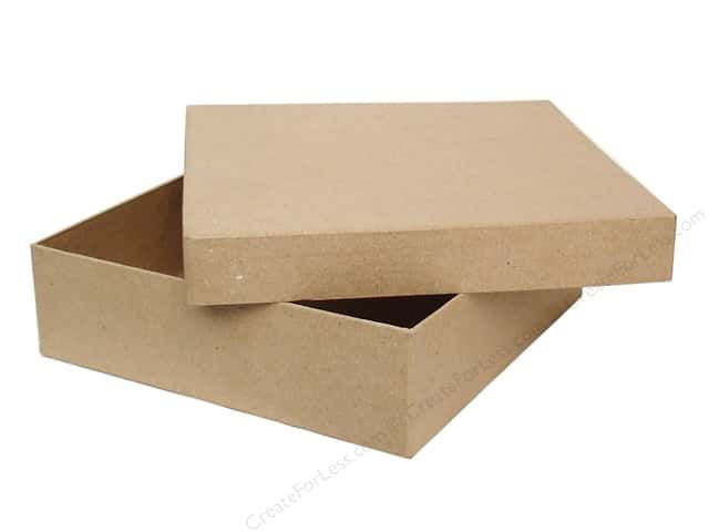 PA Paper Mache Square Box 12 in. (6 boxes)