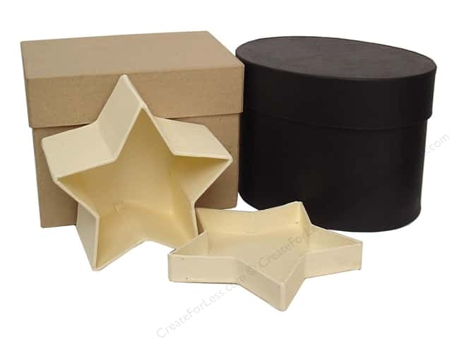 Craft pedlars paper mache boxes createforless for Craft paper mache boxes