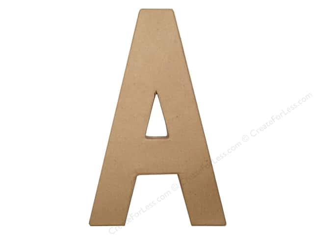Paper Mache Letter A by Craft Pedlars 8 in.