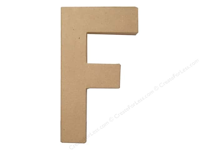 Paper Mache Letter F by Craft Pedlars 8 in.