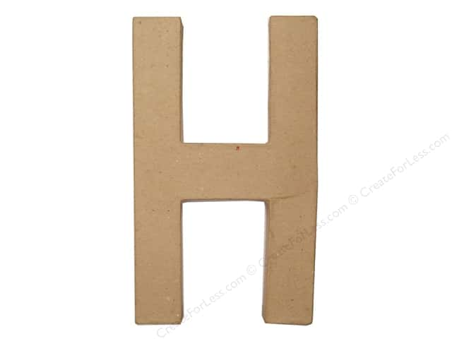 Paper Mache  Letter H by Craft Pedlars 8 in.
