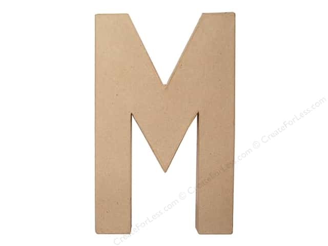 Paper Mache Letter M by Craft Pedlars 8 in.