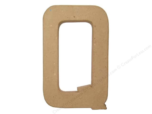 Paper Mache Letter Q by Craft Pedlars 8 in.