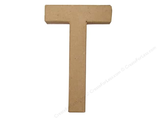Paper Mache Letter T by Craft Pedlars 8 in.