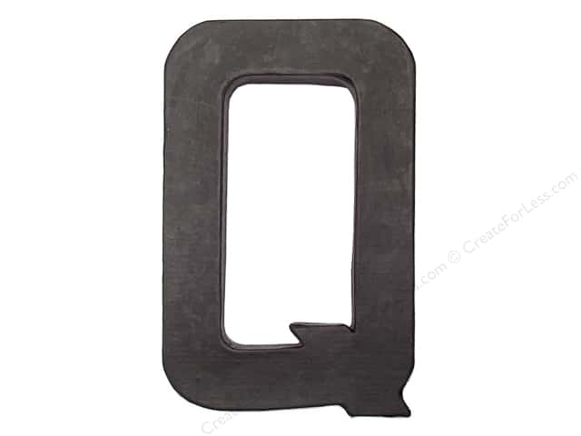 Paper Mache Letter Q by Craft Pedlars Black 8 in.
