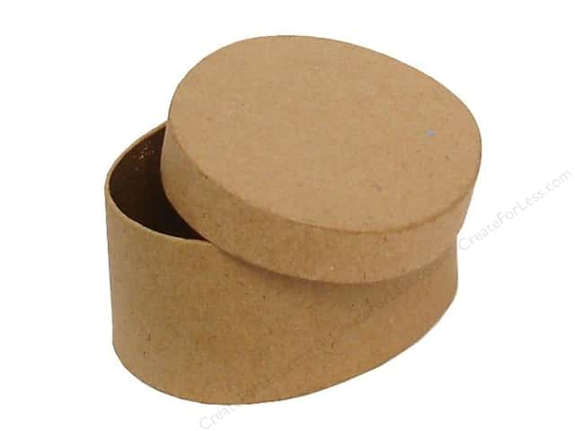 PA Paper Mache Mini Oval Box 3 1/2 in.