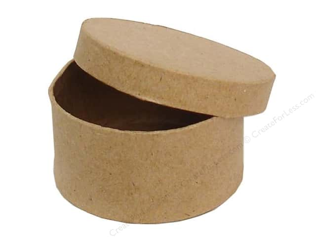Paper Mache Mini Round Box by Craft Pedlars (36 pieces)
