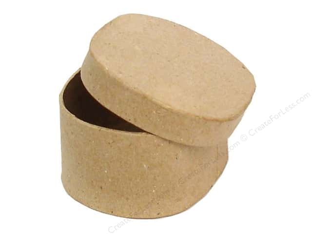 Paper Mache Mini Rectangle Box with Round Corners by Craft Pedlars (36 pieces)