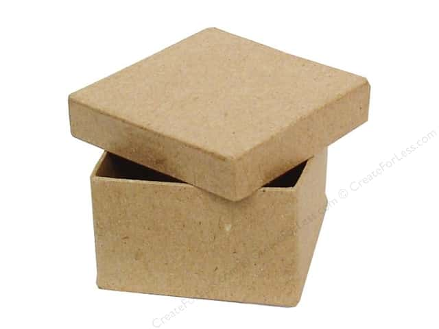 PA Paper Mache Mini Square Box 2 3/8 in.