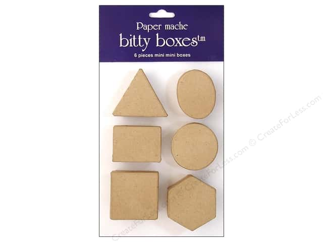 PA Paper Mache Bitty Box 6 pc. Assorted