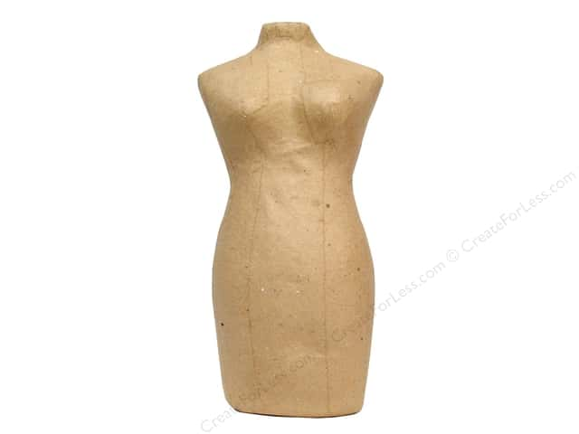 Paper Mache Mannequin by Craft Pedlars 8 in.
