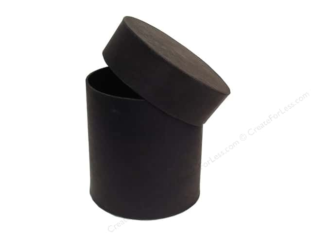 Paper Mache Tall Round Box 4 in. Black by Craft Pedlars (12 boxes)