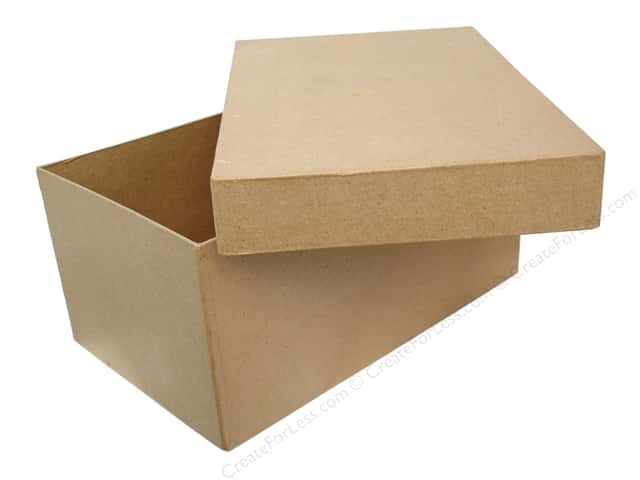 Paper Mache Box 11 x 7 in. Photo by Craft Pedlars (6 pieces)
