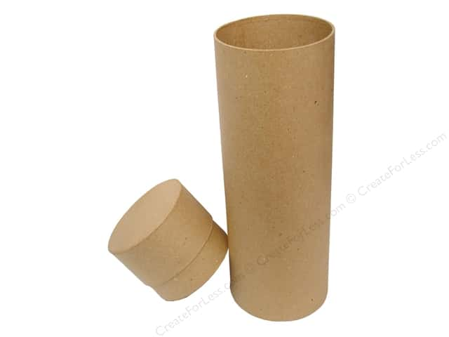 PA Paper Mache Round Wine Box 4 x 13 in.