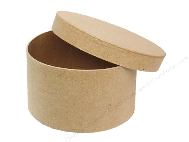 PA Paper Mache Round Box 4 1/2 in. (24 boxes)