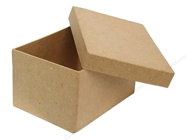 Paper Mache Rectangle Box 4 1/2 in. by Craft Pedlars (24 boxes)