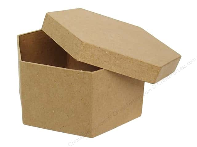 Paper Mache Hexagon Box 4 1/2 in. by Craft Pedlars (24 boxes)