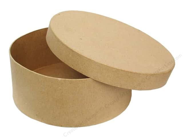 Paper Mache Round Box 7 1/2 in. by Craft Pedlars