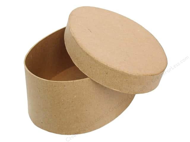 Paper Mache Oval Box 7 1/2 in. by Craft Pedlars
