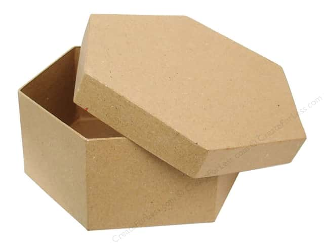 Paper Mache Hexagon Box 6 3/8 in. by Craft Pedlars (12 pieces)