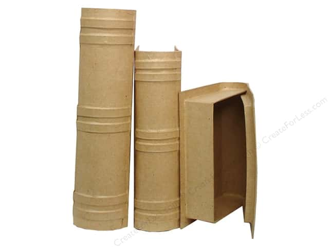 Paper Mache Book Box Set of 3 by Craft Pedlars (6 sets)