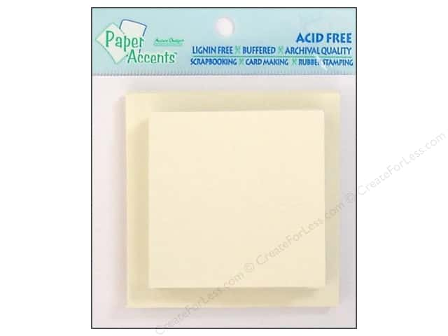 2 1/2 x 2 1/2 in. Blank Card & Envelopes by Paper Accents 10 pc. Cream