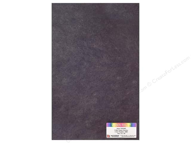 National Nonwovens 35% Wool Felt 12 x 18 in. Licorice (10 sheets)