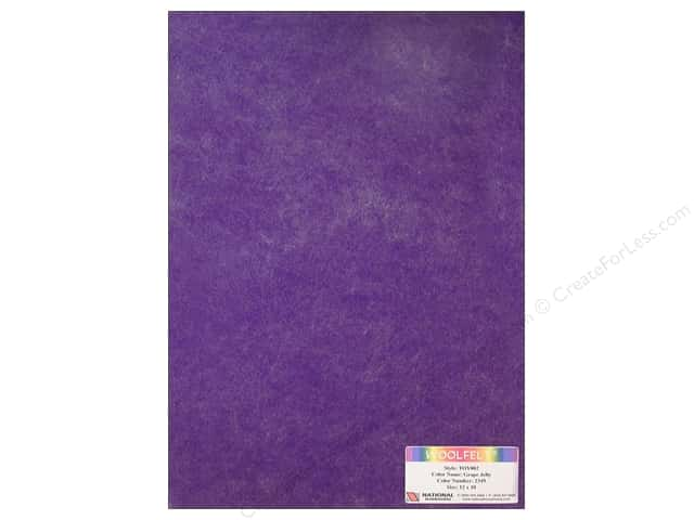 National Nonwovens 35% Wool Felt 12 x 18 in. Grape Jelly (10 sheets)