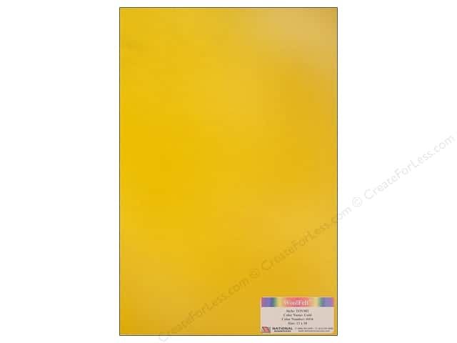 National Nonwovens WoolFelt 12 x 18 in. 35% Gold (10 sheets)