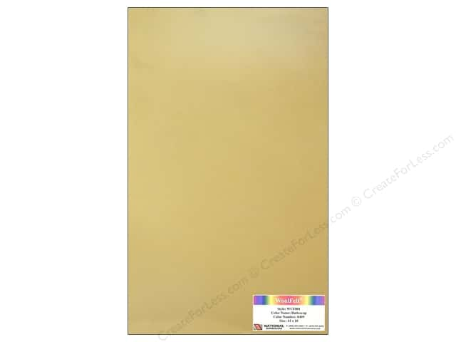 National Nonwovens WoolFelt 12 x 18 in. 20% Buttercup (10 sheets)