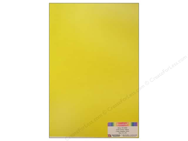 National Nonwovens 20% Wool Felt 12 x 18 in. Yellow