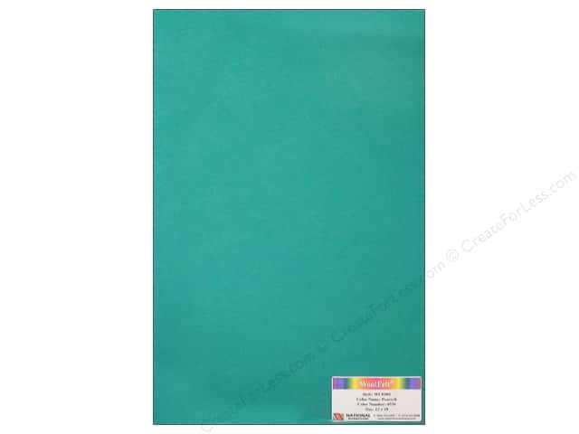 National Nonwovens WoolFelt 12 x 18 in. 20% Peacock (10 sheets)