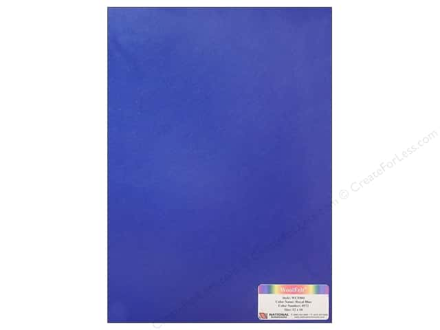 National Nonwovens WoolFelt 12 x 18 in. 20% Royal Blue (12 sheets)