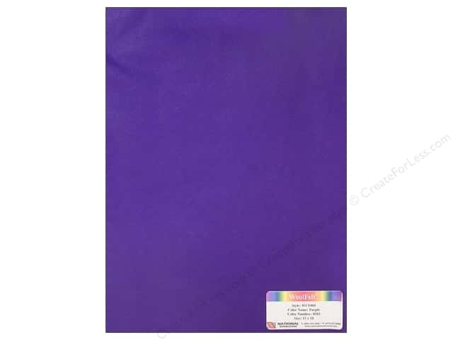 National Nonwovens 20% Wool Felt 12 x 18 in. Purple (10 sheets)