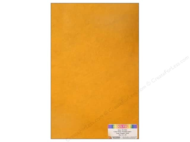 National Nonwovens 20% Wool Felt 12 x 18 in. Pumpkin Spice