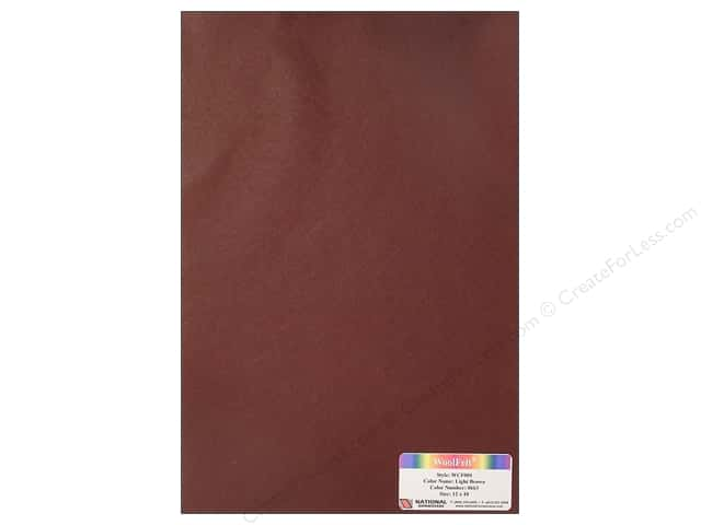 National Nonwovens WoolFelt 12 x 18 in. 20% Light Brown (10 sheets)